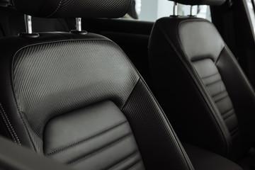 Car leather seats. Car salon