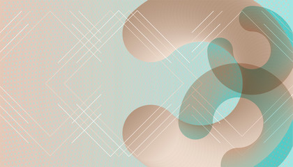 Abstract background futuristic elements on Bleached Aqua and Hint of Mint colors banner geometric