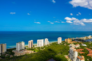 Blue skies over Naples Florida USA