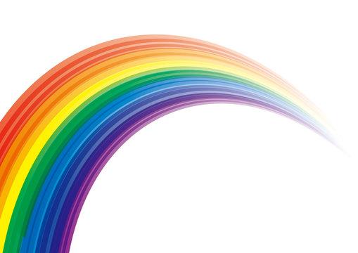 アブストラクト 虹 カラフル カーブ