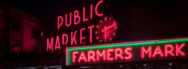 Public market sign in Seattle Fototapete