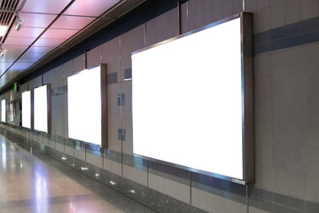 Blank advertising billboard in public, Use for text graphics.