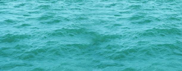 Blue sea waves look natural.
