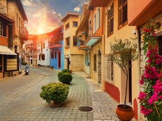 Ioannina city old pedestrian street called Soutsou greece