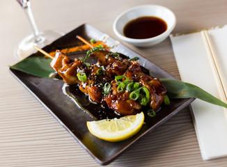 beautiful japanise yakitori served