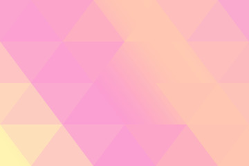 Pink and orange soft pastel color gradient abstract geometric triangular polygon style. Graphic background. abstract polygon background.
