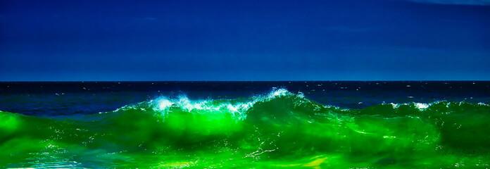 Aluminium Prints Green Emerald Lava