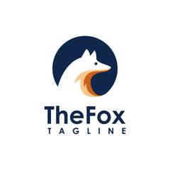 Minimalist Fox logo icon vector