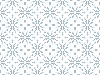 Foto op Canvas Geometrisch Abstract geometric pattern with snowflakes. A seamless vector background. White and blue texture. Graphic modern pattern.