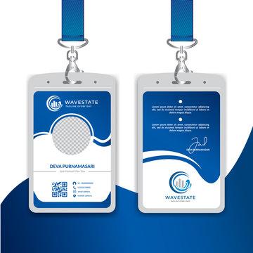 Corporate Id card design template - vector