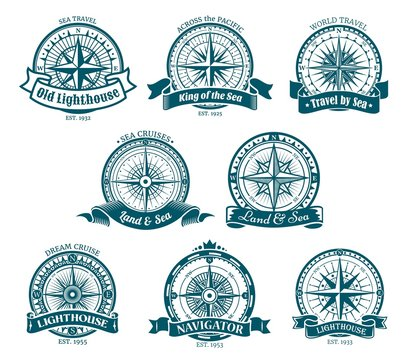 Compass navigation and orientation icons