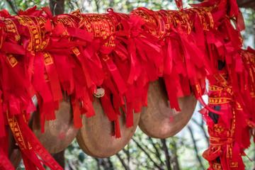 Red ribbons in Zhangjiajie National Park