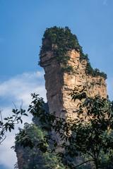 Stone pillar in Zhangjiajie Tianzi mountains