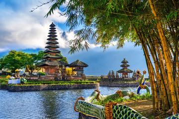 Wall Murals Place of worship pura ulun danu bratan temple in Bali, indonesia.
