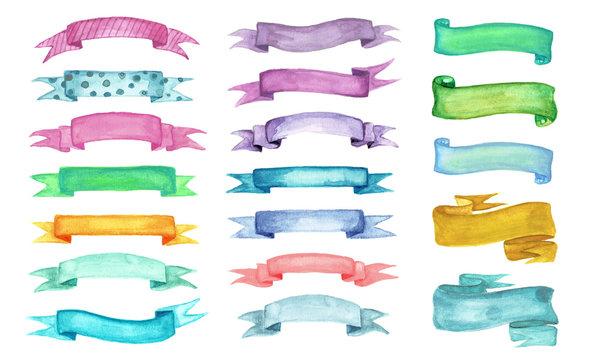 Ribbon watercolor set.