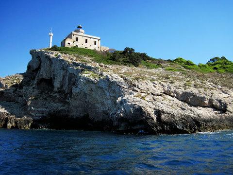 Lighthouse of San Domino. Tremiti islands. Apulia. Italy