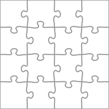 Complete Puzzle Vector Template