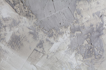 Concrete wall with gray brush strokes abstract grungy background