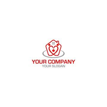 Home Care Ederly Logo Design Vector