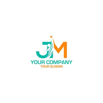 JM Career Logo Design Vector