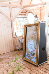 beautiful and exclusive magic mirror photobooth for weddings, events and partys