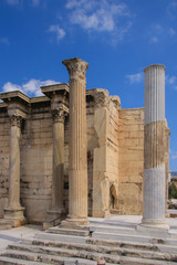 The library of hadrian, Athens - ancient Greece