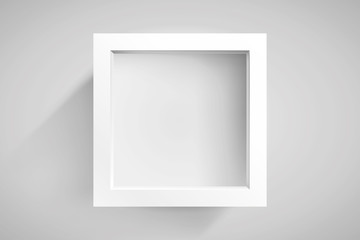 Realistic empty frame on light background, border for your creative project, mockup for you project. Vector design