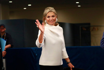 Queen Maxima of the Netherlands arrives ahead of the start of the 74th session of the United Nations General Assembly at U.N. headquarters in New York City, New York, U.S.