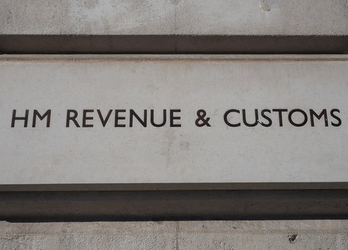 HM Revenue and Customs sign in London