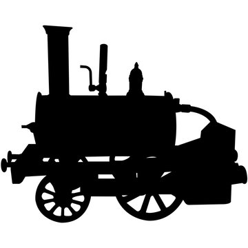 Steam Engine Silhouette Vector