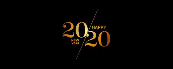 2020 Logo Happy New Year Background. Brochure Design Template, Poster, Card, Banner. Vector Illustration. Fototapete