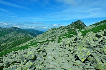 Slovakia-view of the Chopok peak from Journey of the Heroes of SNP in the Low Tatras