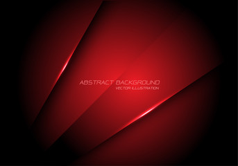 Abstract red metallic overlap design modern futuristic technology background vector.