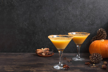Pumpkintini pumpkin martini cocktail