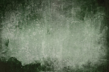 green grungy wall background or texture