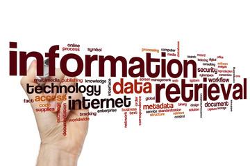 Information retrieval word cloud Wall mural