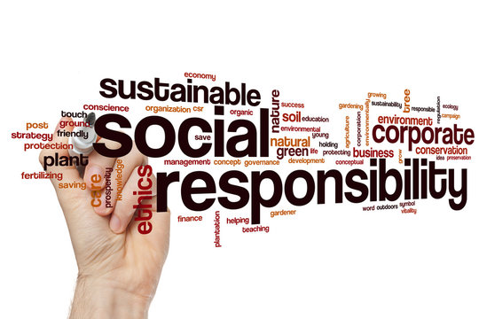 Social responsibility word cloud