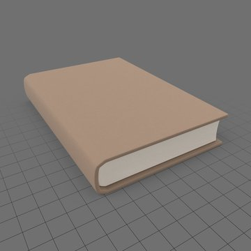 Stylized closed book