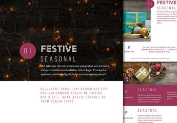 Festive Holiday Social Post Layout Set