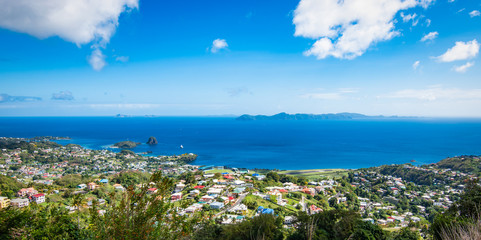 Wall Mural - Panoramic landscape view of Kingstown city and Caribbean Sea, Saint Vincent and the Grenadines.