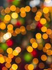 Multicolor Christmas bokeh lights. Xmas colorful background