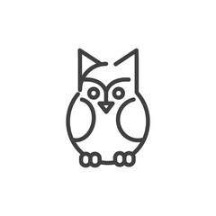 owl bird trick or treat happy halloween line style