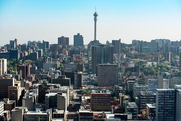 Aerial view of the Johannesburg city skyline