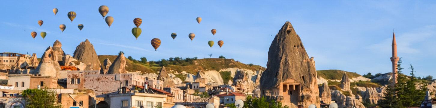 Beautiful rocks in city  Goreme, Cappadocia, Turkey