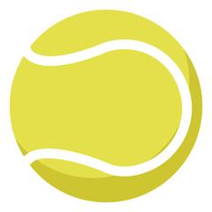 Tennis ball, illustration, vector on white background.