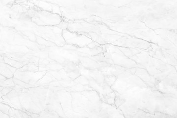 Wall Mural - White marble texture with natural pattern for background