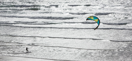 A kite-surfer.