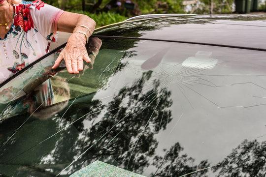 hail damage on car