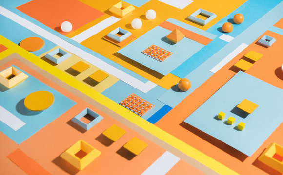 Abstract Composition / shapes Background