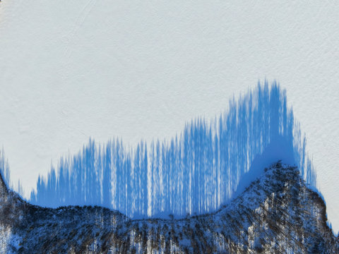 Acoustic wave on the snow